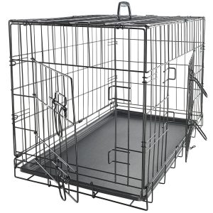 OxGord Double-Door Easy Folding Metal Pet Crate
