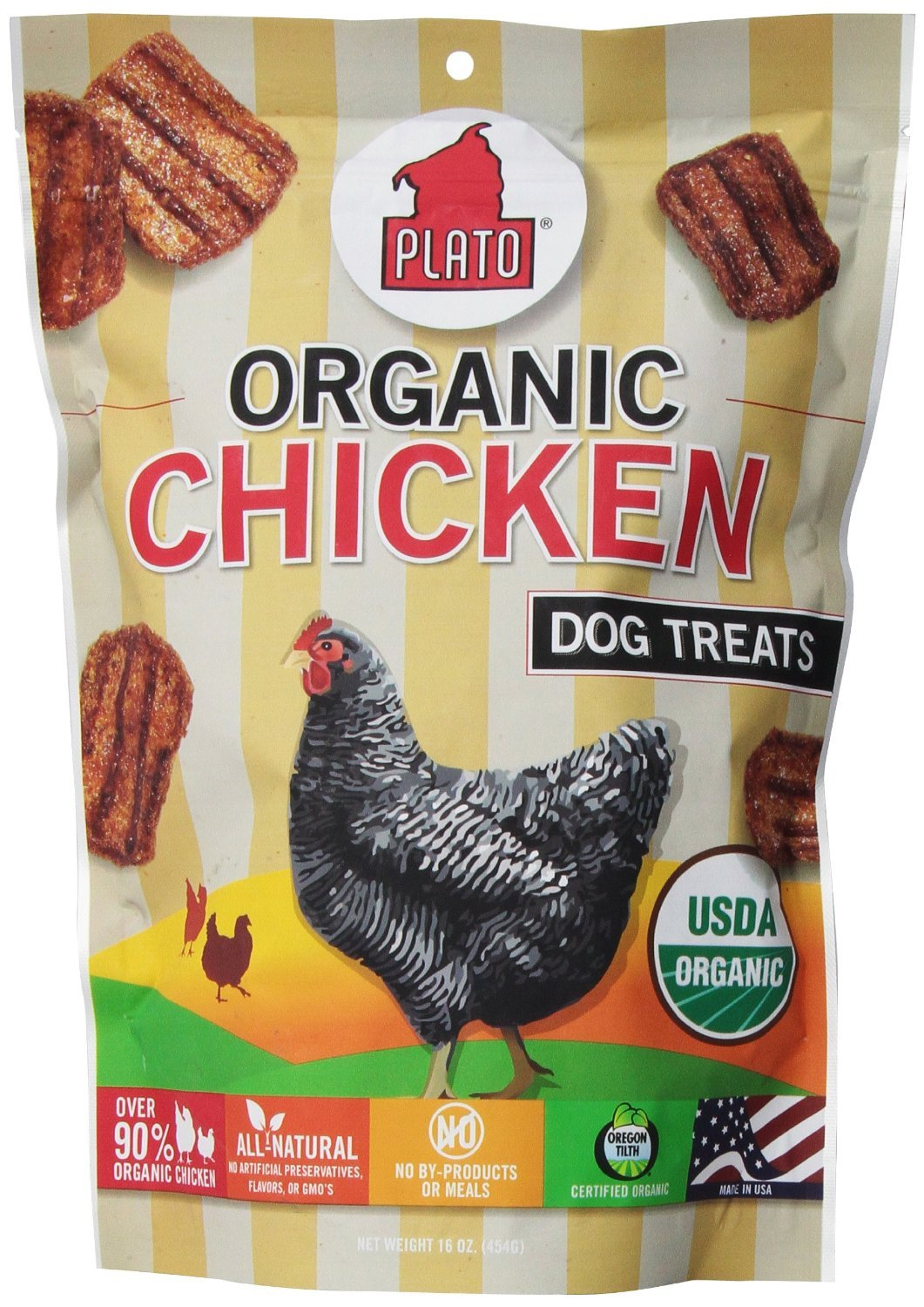 Plato Organic Chicken Dog Treats