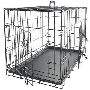 OxGord Double-Door Easy Folding Metal Pet Crate